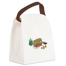 Camping Trailer Canvas Lunch Bag
