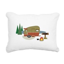 Camping Trailer Rectangular Canvas Pillow