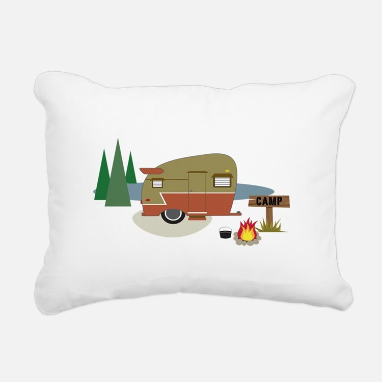 Camping Trailer Rectangular Canvas Pillow