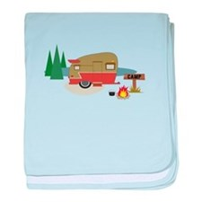 Camping Trailer baby blanket