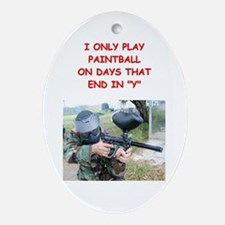 paintball Ornament (Oval)