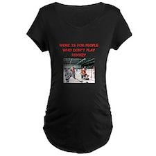 HOCKEY Maternity T-Shirt