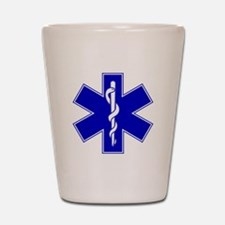 Blue Star of Life Shot Glass