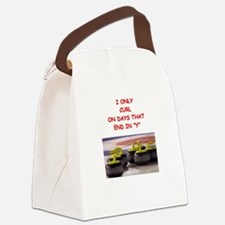 CURLING3 Canvas Lunch Bag