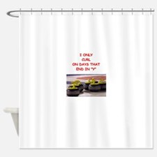 CURLING3 Shower Curtain