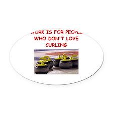 CURLING2 Oval Car Magnet