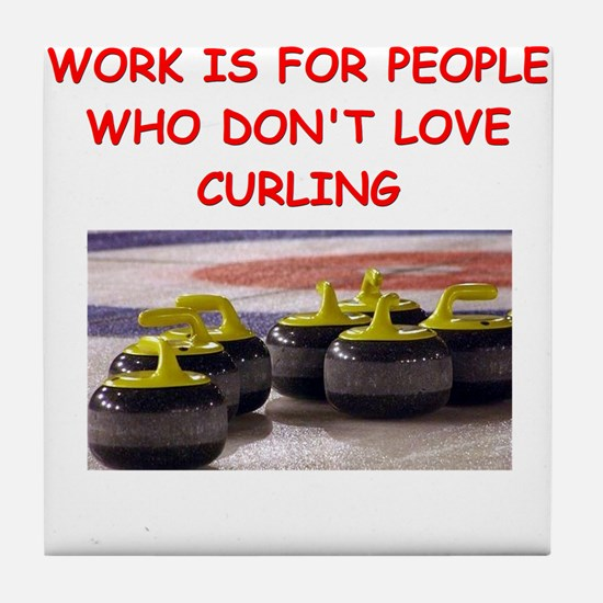 CURLING2 Tile Coaster