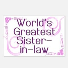 World's Greatest Sister-in-Law Postcards (Package