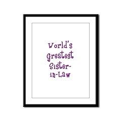 World's Greatest Sister-in-Law Framed Panel Print