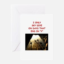 SKYDIVE2 Greeting Cards