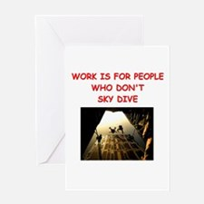 SKYDIVE Greeting Cards