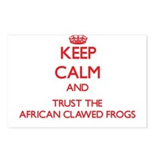 Keep calm and Trust the African Clawed Frogs Postc