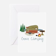 GONe camping Greeting Cards
