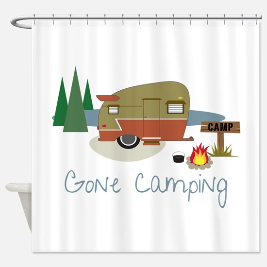 GONe camping Shower Curtain