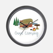 GONe camping Wall Clock