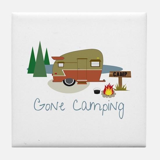 GONe camping Tile Coaster