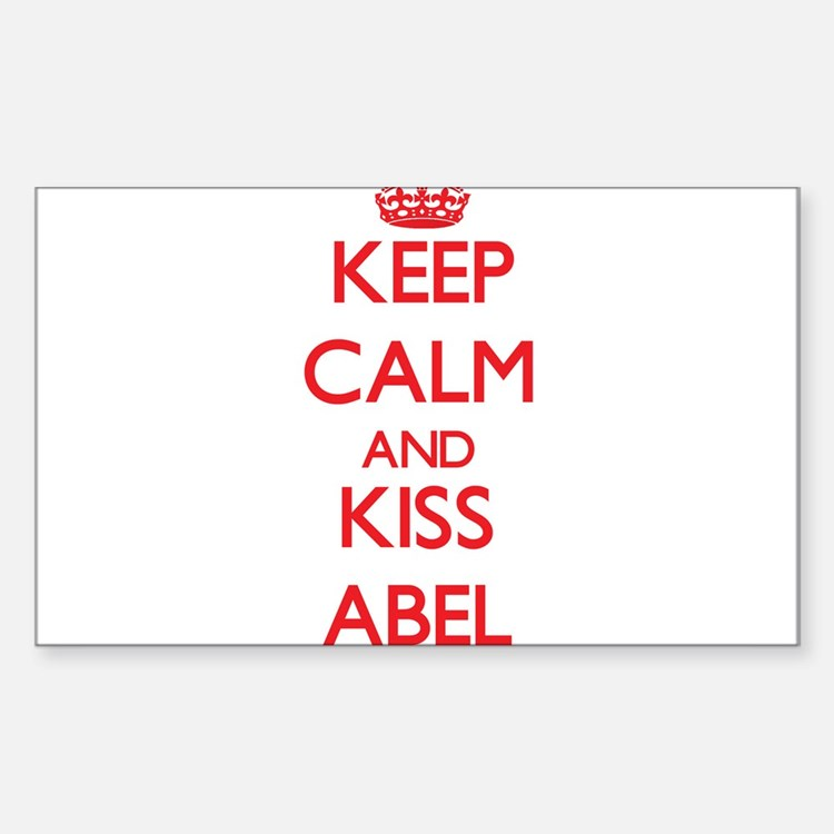 Keep Calm and Kiss Abel Decal