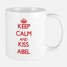 Keep Calm and Kiss Abel Mugs