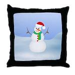 Santa Snowman Throw Pillow