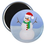Santa Snowman Magnets