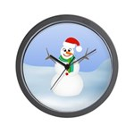 Santa Snowman Wall Clock