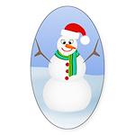 Santa Snowman Sticker