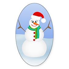 Santa Snowman Decal