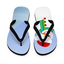 Santa Snowman Flip Flops