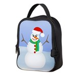 Santa Snowman Neoprene Lunch Bag