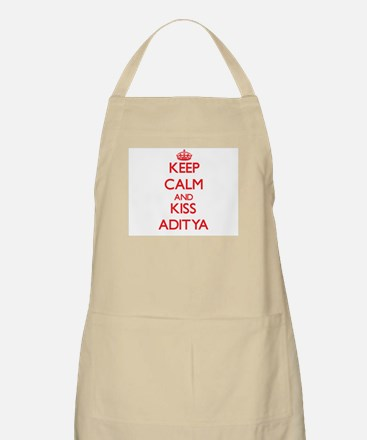 Keep Calm and Kiss Aditya Apron