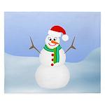 Santa Snowman King Duvet
