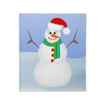 Santa Snowman Throw Blanket