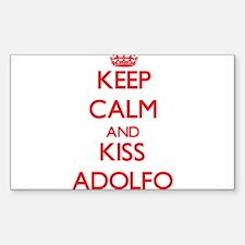 Keep Calm and Kiss Adolfo Decal