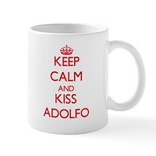 Keep Calm and Kiss Adolfo Mugs