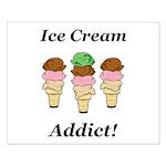 Ice Cream Addict Small Poster