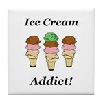 Ice Cream Addict Tile Coaster