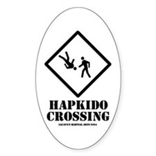 """Hapkido Crossing"" Oval Decal"
