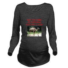 happiness Long Sleeve Maternity T-Shirt