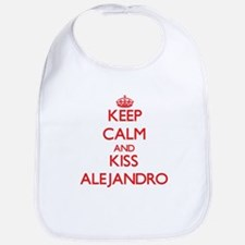 Keep Calm and Kiss Alejandro Bib