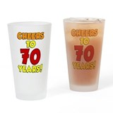 70 birthday glass Drinking Glass