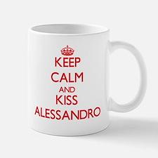 Keep Calm and Kiss Alessandro Mugs