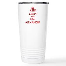 Keep Calm and Kiss Alexander Travel Mug
