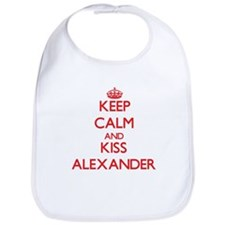 Keep Calm and Kiss Alexander Bib