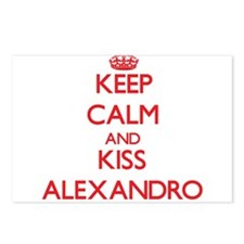 Keep Calm and Kiss Alexandro Postcards (Package of