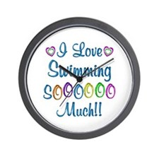 Swimming Love So Much Wall Clock