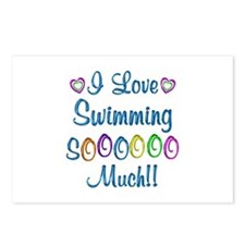 Swimming Love So Much Postcards (Package of 8)