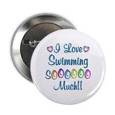 """Swimming Love So Much 2.25"""" Button"""