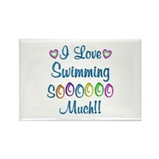 Swimming Love So Much Rectangle Magnet (100 pack)