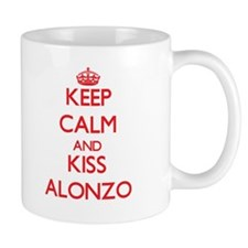 Keep Calm and Kiss Alonzo Mugs