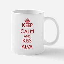 Keep Calm and Kiss Alva Mugs